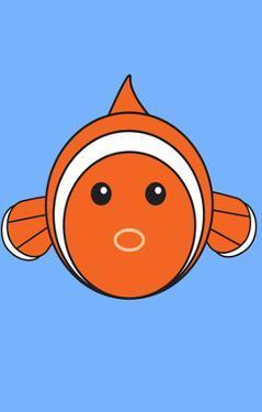 Fish - Animaru Cartoon Animal Print by Animaru