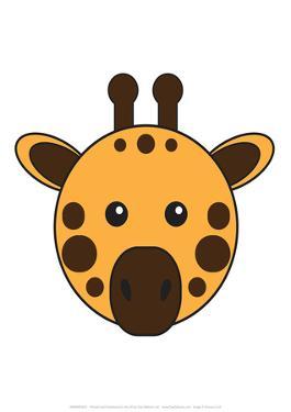 Giraffe - Animaru Cartoon Animal Print by Animaru