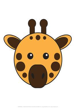 Giraffe - Animaru Cartoon Animal Print by Animaru