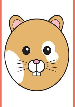 Hamster - Animaru Cartoon Animal Print by Animaru