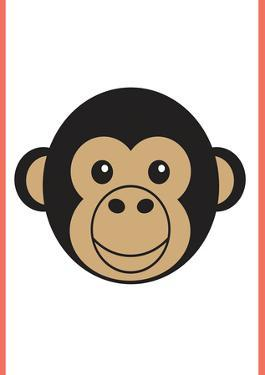 Monkey - Animaru Cartoon Animal Print by Animaru