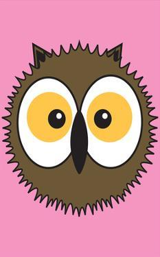Owl - Animaru Cartoon Animal Print by Animaru