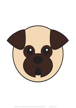 Pug - Animaru Cartoon Animal Print by Animaru