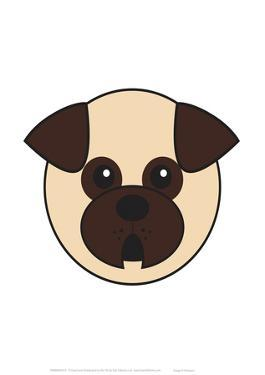 Pug - Animaru Cartoon Animal Print by Animaru