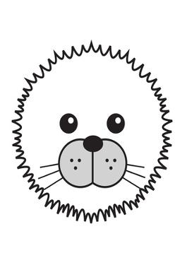 Seal - Animaru Cartoon Animal Print by Animaru