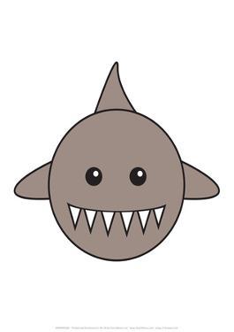 Shark - Animaru Cartoon Animal Print by Animaru