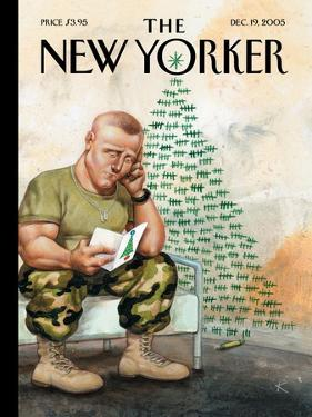 The New Yorker Cover - December 19, 2005 by Anita Kunz