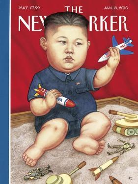 The New Yorker Cover - January 18, 2016 by Anita Kunz
