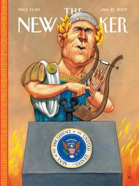 The New Yorker Cover - January 22, 2007 by Anita Kunz
