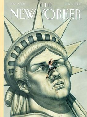 The New Yorker Cover - July 3, 2000 by Anita Kunz