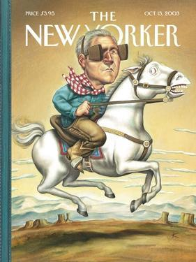 The New Yorker Cover - October 13, 2003 by Anita Kunz