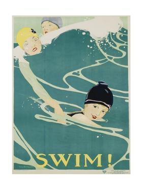 Swim! Poster by Anita Parkhurst