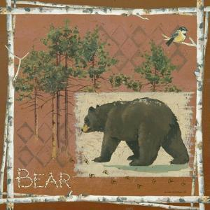 Bear on Red by Anita Phillips