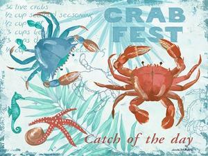 Crab Fest - Blue by Anita Phillips