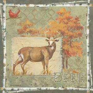Deer on Green by Anita Phillips