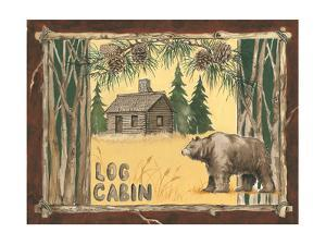 Log Cabin Bear by Anita Phillips
