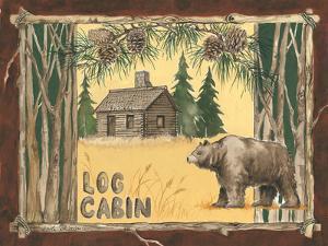 Log Cabin Bear by Anita Phillips