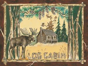 Log Cabin Moose by Anita Phillips