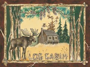 Log Cabin Moose by Anita Phillips