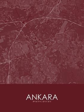 Ankara, Turkey Red Map