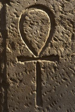 Ankh or Key of Life. Relief