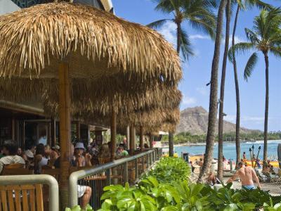 Dukes Canoe Club on the Beach at Waikiki in the Outrigger Waikiki Hotel by Ann Cecil