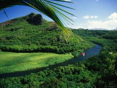 Overlooking the Wailua River and as it Winds Past a Hill by Ann Cecil