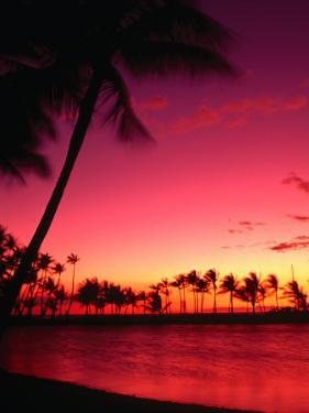 Sunset at Anaehoomalu on the Kohala Coast, Waikoloa, Hawaii (Big Island), Hawaii, USA by Ann Cecil