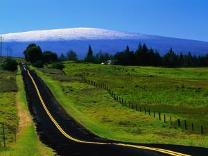 The Saddle Road Connecting East and West Hawaii, with Mauna Loa in the Distance, Hawaii, USA by Ann Cecil