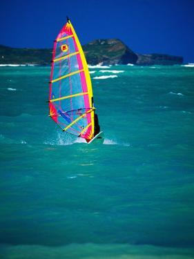 Windsurfer on the Shores of Kailua Beach, Kailua, U.S.A. by Ann Cecil