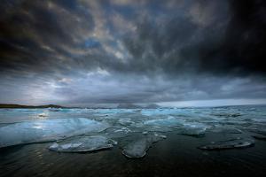 Jökulsárlón Lagoon and Ice by Ann Clark Landscapes