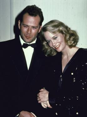 Actors Bruce Willis and Cybill Shepherd by Ann Clifford