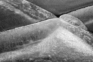 Canada, Alberta, Bow Valley Provincial Park, Ice abstract of frozen Barrier Lake by Ann Collins