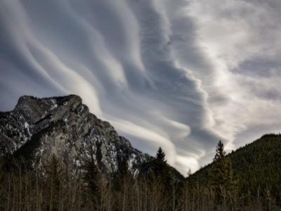 Canada, Alberta, Bow Valley Provincial Park. Lenticular clouds over Kananaskis Country by Ann Collins