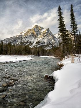 Canada, Alberta, Kananaskis Country, Mount Kidd and the Kananaskis River by Ann Collins