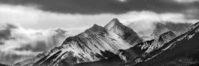 Canada, Alberta, Kananaskis Country, Panorama of Mount Burstall in Peter Lougheed Provincial Park