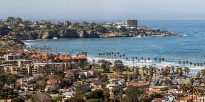 USA, California, La Jolla, Panoramic view of La Jolla Shores by Ann Collins