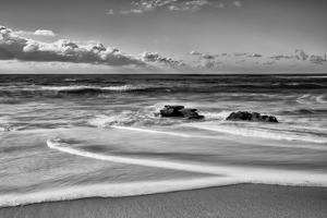 USA, California, La Jolla. Rocks and clouds at Whispering Sands Beach by Ann Collins