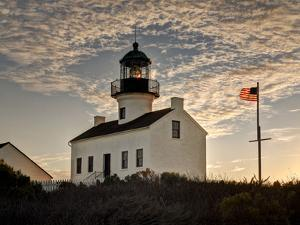 USA, California, San Diego. Old Point Loma Lighthouse at Cabrillo National Monument by Ann Collins