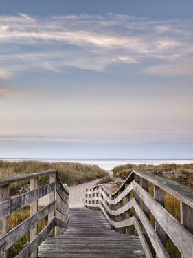 USA, Massachusetts, Cape Cod, Chatham. Dawn at Ridgevale Beach by Ann Collins