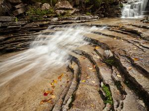 USA, New Hampshire, White Mountains. Cascades along Bemis Brook by Ann Collins