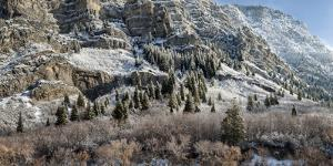 USA, Utah, Provo, Panoramic view of late afternoon light in Provo Canyon by Ann Collins
