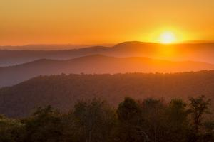 USA, Virginia. Shenandoah National Park, sunset from Naked Creek Overlook by Ann Collins