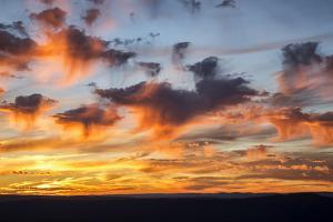 USA, Virginia. Shenandoah National Park, sunset over Massanutten and the Allegheny Mountains by Ann Collins
