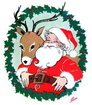 Santa & Reindeer - Jack and Jill, December 1956 by Ann Eshner