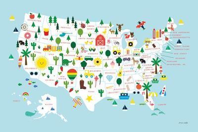 Fun USA Map