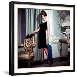 Ann-Margret, in French Drawing Room, Posing in Black Dress, 1960s