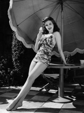 Ann Miller Eating Ice Cream, c.1941