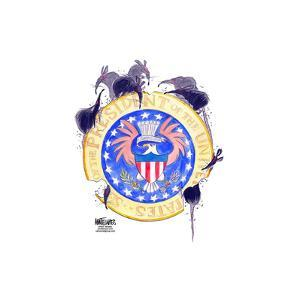 Seal of the President of the United States. E. pluribus unum. by Ann Telnaes