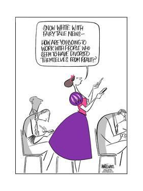 Snow White with Fairy Tale News. by Ann Telnaes